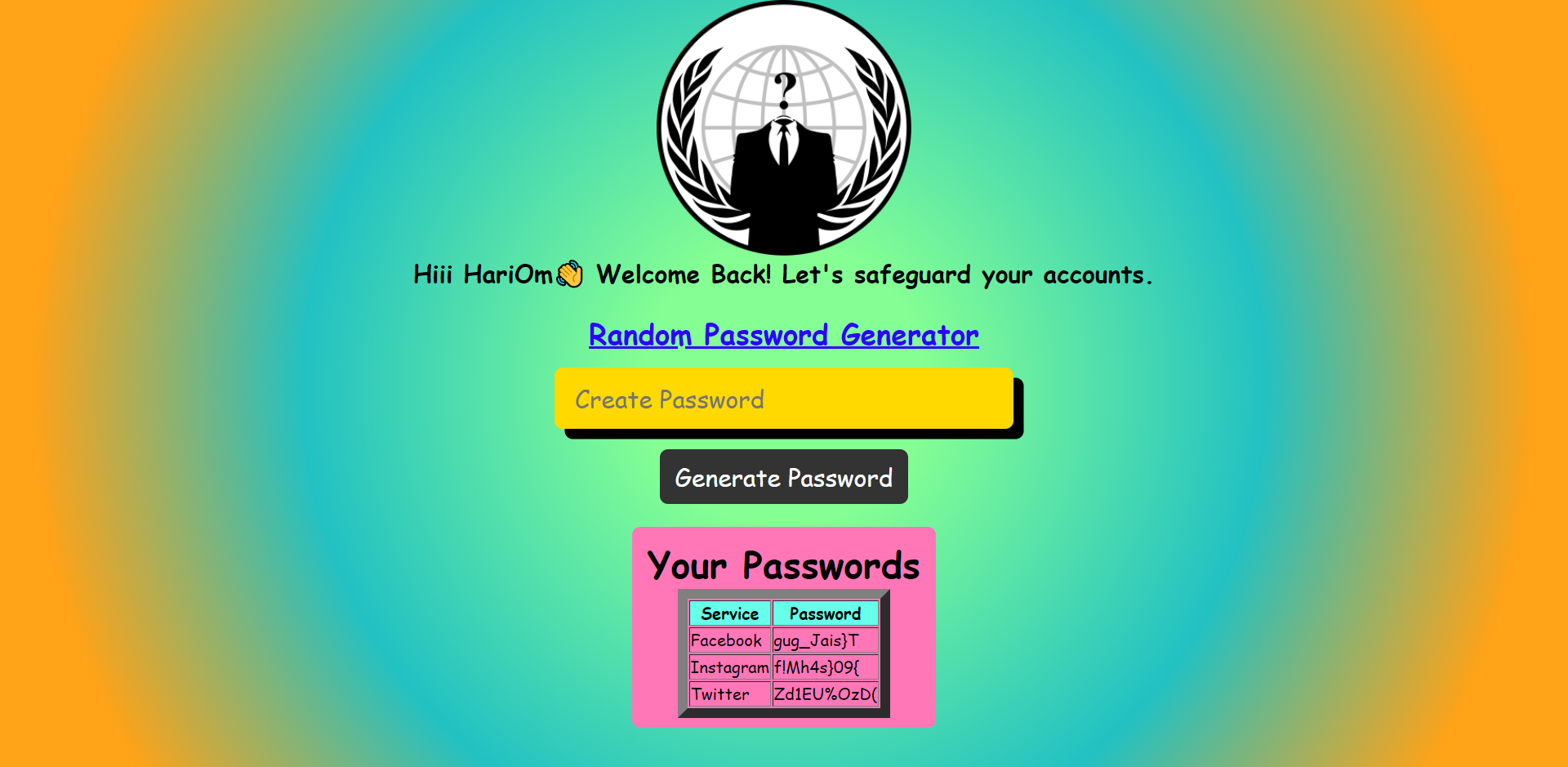 Password Generator demo